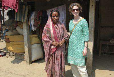 Olly with PDS farmer, Kolaghat