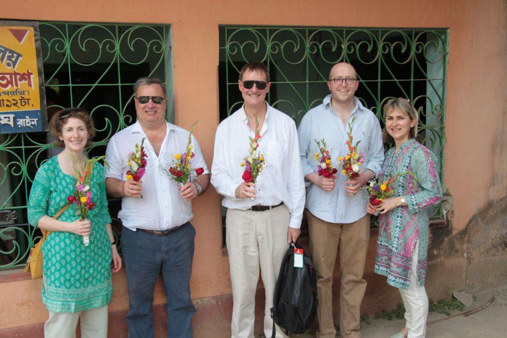 Olly, Chris, Stuart, Tim and Victoria, Kolaghat, February 2015