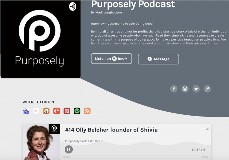 Olly featured on Purposely podcast